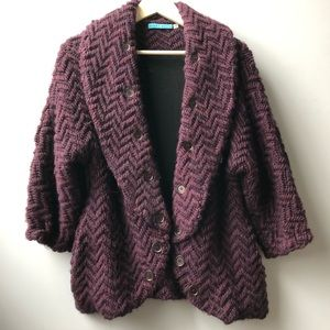Alice + Olivia Chunky Sweater Jacket Cardigan XS